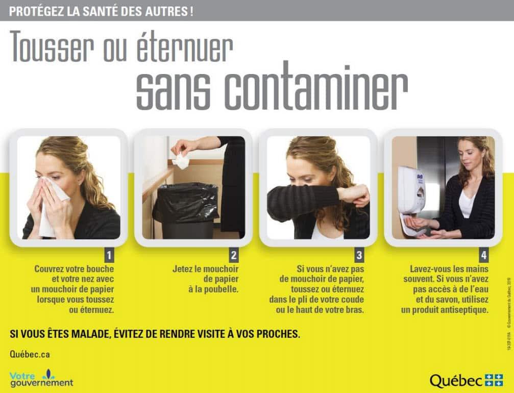 Tousser et Éternuer Sans Contaminer